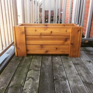 """Cedar planter box 36"""" x 12"""" x 16"""""""