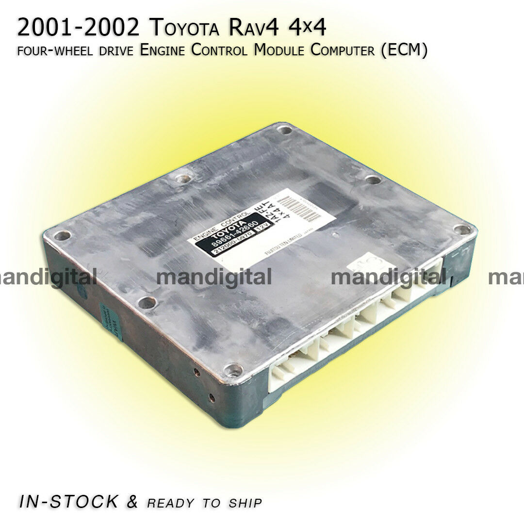 01 02 Toyota RAV4 Engine Computer 4WD 4x4 ECM ECU Exchange Service 89661-42661