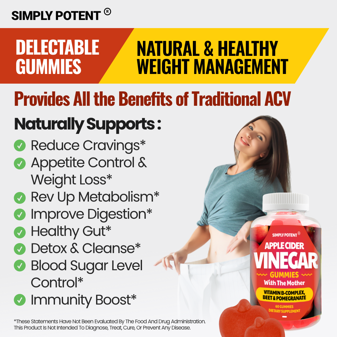 Apple Cider Vinegar Gummies w Mother, ACV Gummy for Detox Cleanse & Weight Loss  5