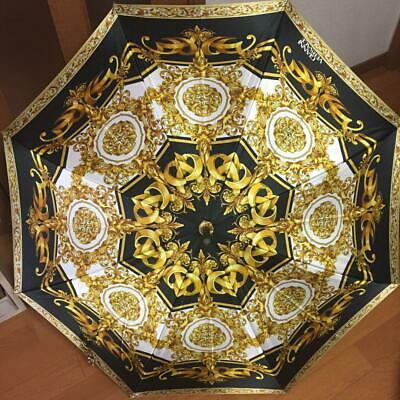 Gianni Versace Umbrella Vintage Style Black Gold White