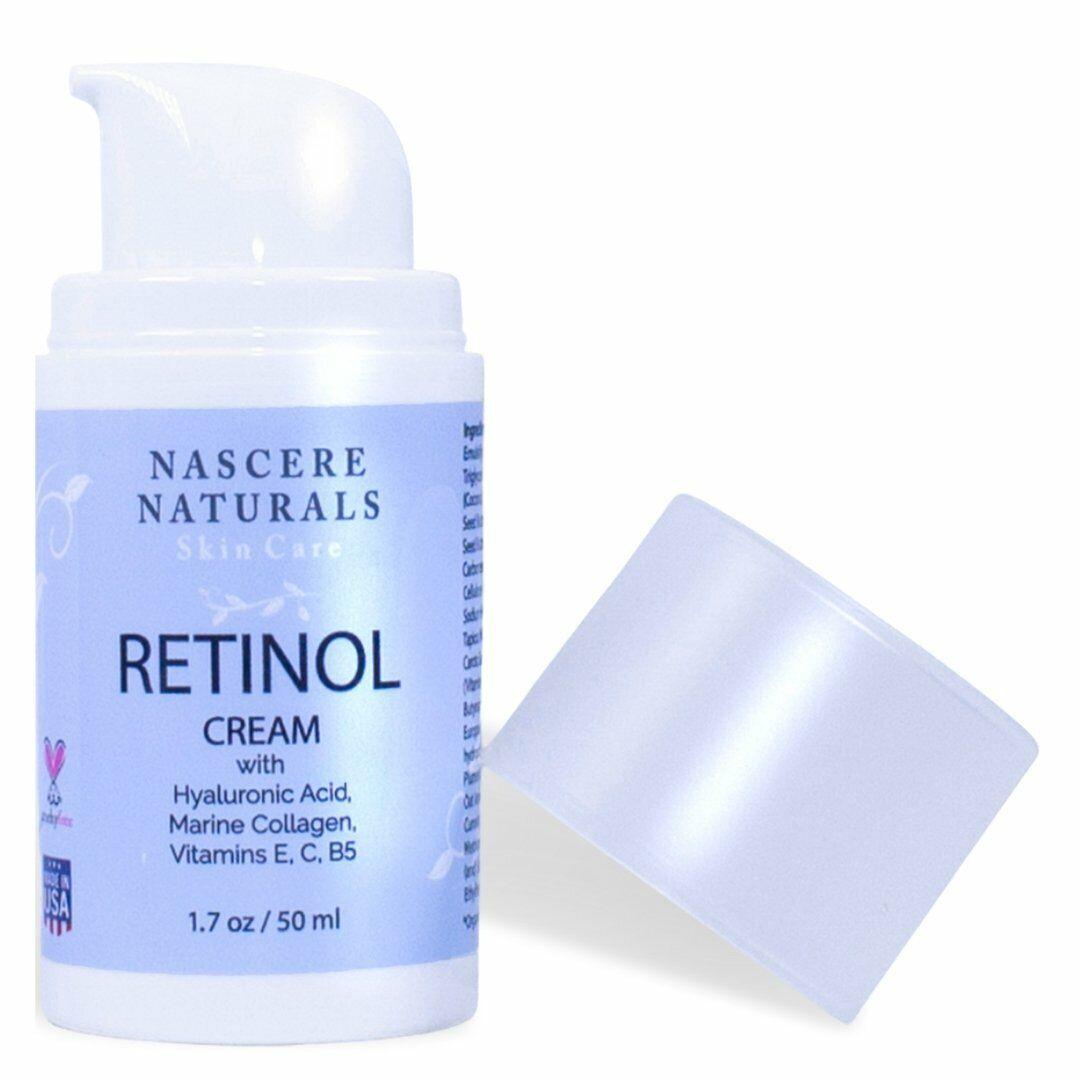 Retinol Cream with Hyaluronic Acid, Marine Collagen and Vita