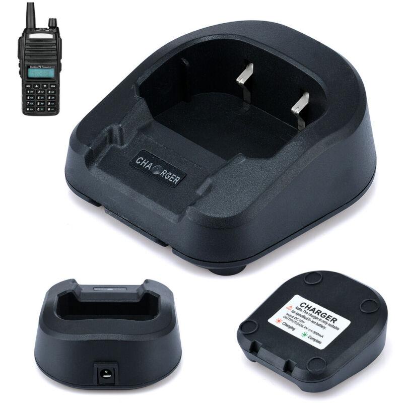 Desktop Radio Battery Charger Base Black fr Baofeng UV-82 UV