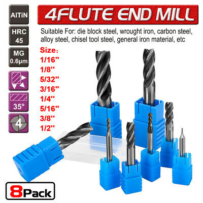 Fullerton Tool 36170 60-Degree 3//4 x 4 Solid Carbide TiAlN Chamfer Mill