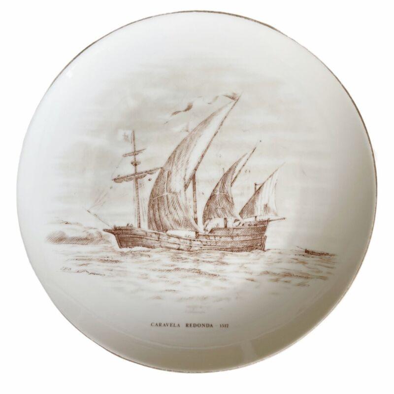 """Vista Alegre Museu De Marinha Portugal 9"""" Ship Plate"""
