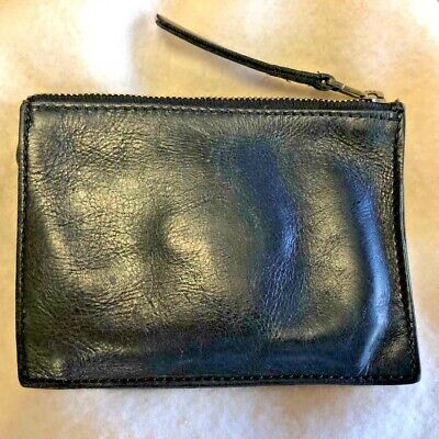Madewell Pouch Wallet - Zip Top - Vintage (1970s) - Black Leather  Zip Pouch Wallet