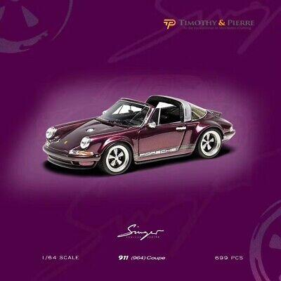 Timothy&Pierre 1:64 Car Model Porsche Singer 911 964 Targa Alba Cielo Limited