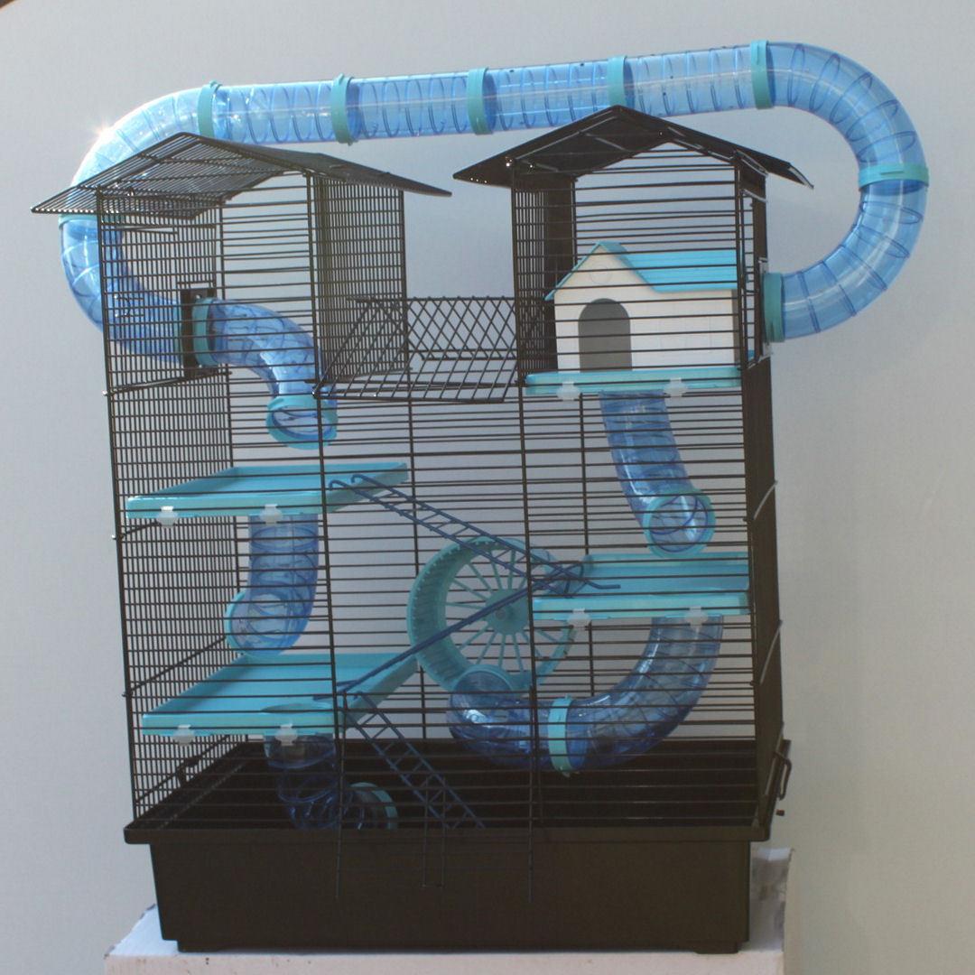 SUPER Hamsterburg Hamsterkäfig mit gigantischem Zubehörpaket Mäusekäfig