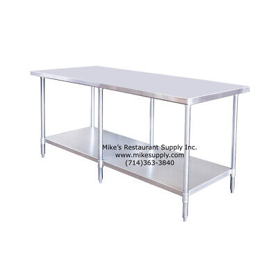 New 96 X 30 All Stainless Work Table Under Shelf Atosa Nsf Sstw-3096 2746