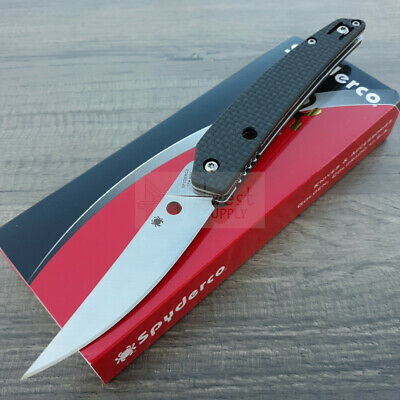 "Spyderco Ikuchi Folding Knife 3.25"" CPM S30V Steel Blade Carbon Fiber/G10 Handle"