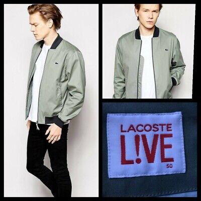 Genuine Lacoste Live Gray Summer Bomber Harrington Jacket Medium 50  *RRP£160* for sale  Shipping to South Africa