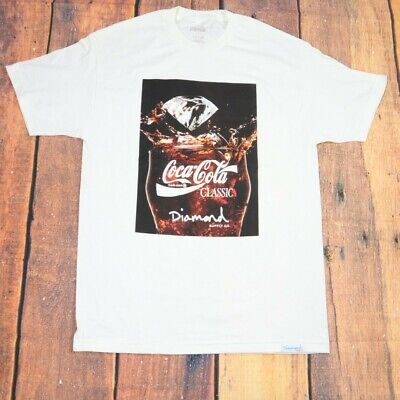 diamond supply x coke t-shirt / white color size large /short sleeve / coca cola