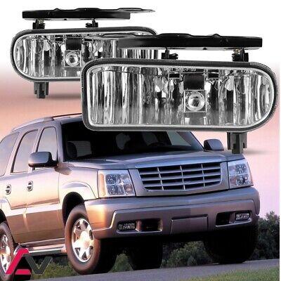 02-06 For Cadillac Escalade Clear Lens Pair Bumper Fog Light Lamp OE -