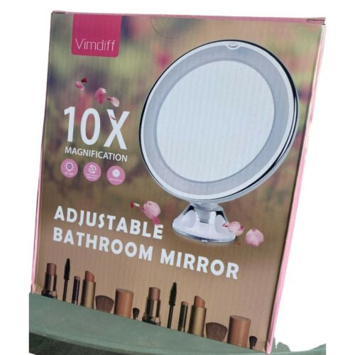Vimdiff 10X Magnifying Makeup Vanity Mirror with Lights - Up
