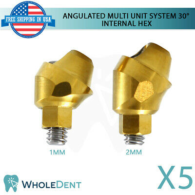 5x Angulated Abutment Multi Unit System 30 Titanium Dental Implant Int Hex