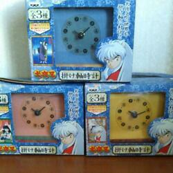 Inuyasha Inu Yasha Hanging Scroll Wall Clock Lot of 3