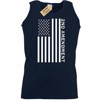 Second 2nd Amendment American Flag Patriotic Gun Rights mens Tank Top Vest