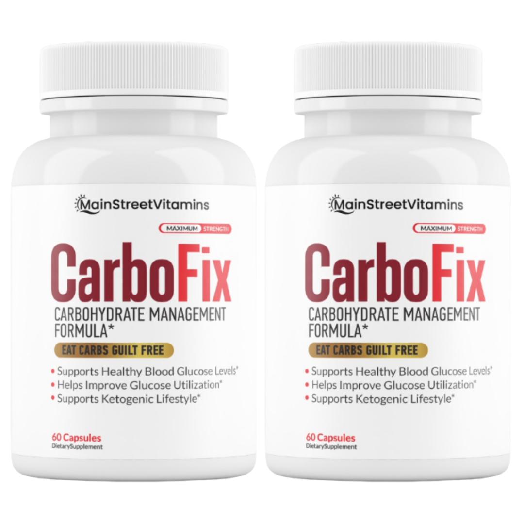 Carbo Fix Carbohydrate Management Carbofix Diet Pills 120 Capsules - 2 bottles