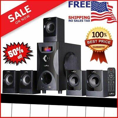 Wireless Surround Sound System Home Entertainment Theater Speaker Set Bluetooth (Black Surround Sound System)