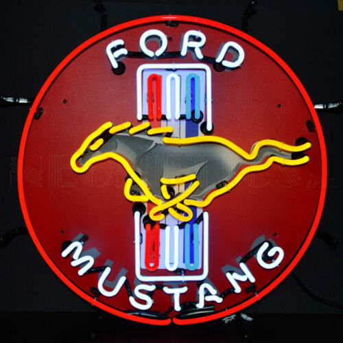 "FORD Mustang Car Racing OLP Sign Neon Sign 24""x24"""