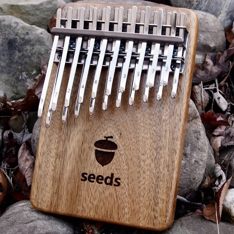 Seeds 20 key Kalimba double Layer solid thumb piano mbira karimba