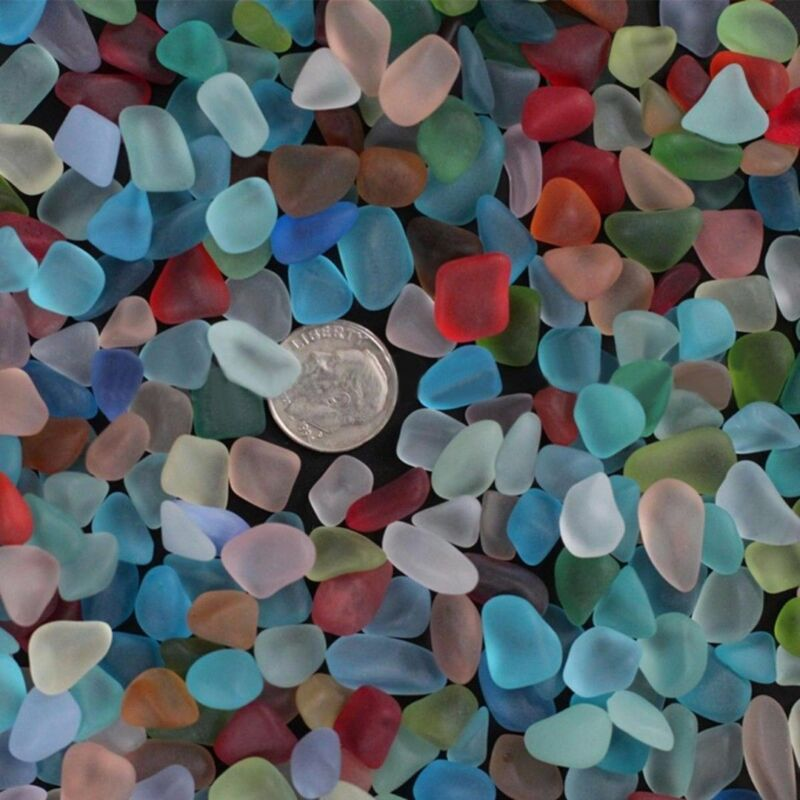 Sea Beach Glass Beads Mixed Colors Bulk Jewelry Pendant Decor 10-16mm Craft DIY