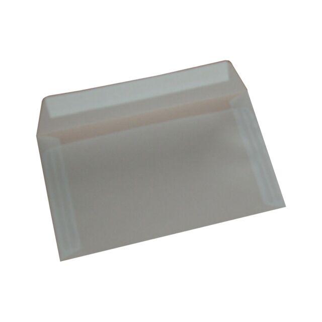 25 Briefumschläge DIN C6 Transparent 114x162 mm 92g Transparentpapier