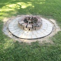 Fall Shrub Bed Cleanups, Brush Removal, Fire Pit Construction