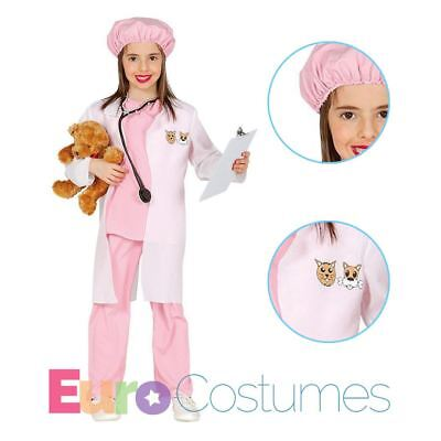 Girls Vet Animal Doctor Fancy Dress Costume Occupations Kids Book Day Outfit