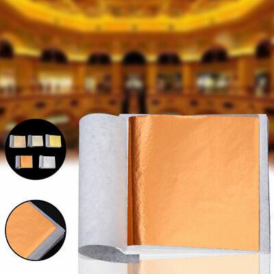 Gold Foil Sheets (100 Sheets DIY Gold Foil Leaf Sheets Gilding Handicrafts Paper)