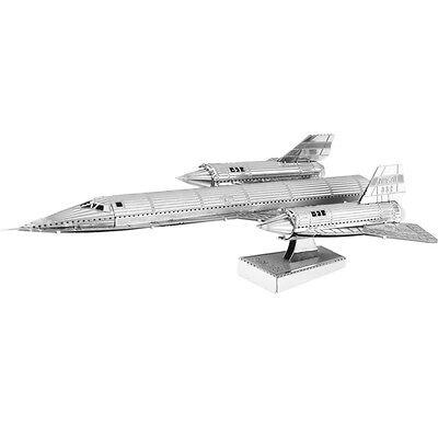 Blackbird SR-71 3D-Metall-Bausatz Silver-Edition Metal Earth 1062