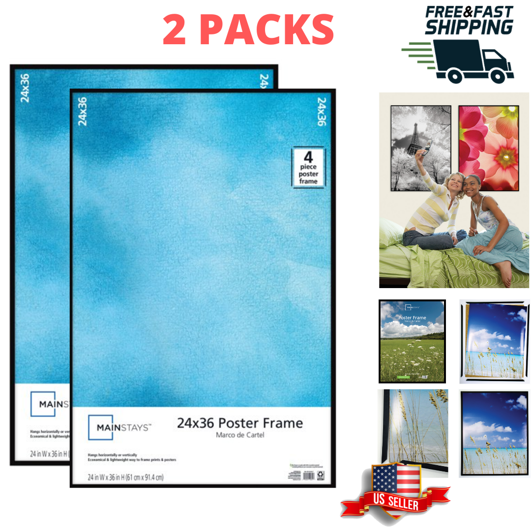 24x36 Thin Poster Picture Frame Display Protect Cover Showcase Certificate 2 Set - $34.49