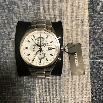 Citizen AT8015-54A New Old Stock Chronograph SS Eco-Drive Solar Mens Watch