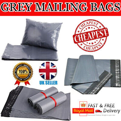 100 GREY MAILING BAGS - 17