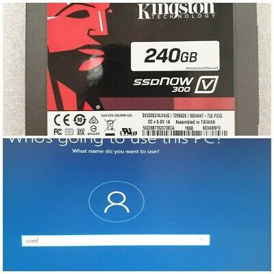 240GB KINGSTON SSDNow V300 Series MLC SATA 6Gbps 2.5SV300S37A/240G w/WIND 10 PRO