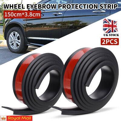 2PCS Car Wheel Eyebrow Protector Lip Arch Trim Flare Fender Rubber Strip 150cm