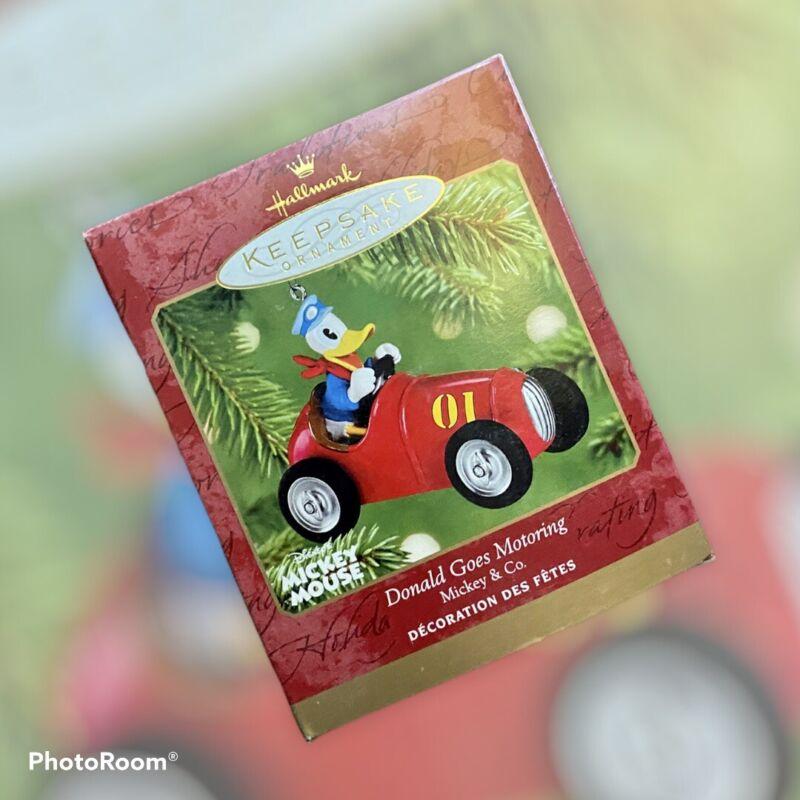Hallmark Keepsake Donald Goes Motoring Mickey & Co. 2001 Disney Ornament