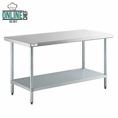 30 X 60 Stainless Steel Work Prep Shelf Table Commercial Restaurant 18 Gauge