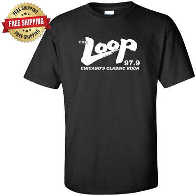 The Loop Chicagos Classic Rock 97 9 Fm Radio Station Black T Shirt