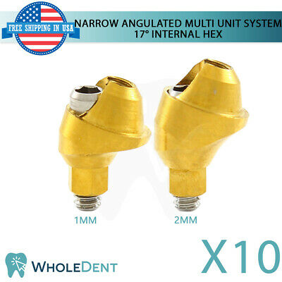 10x Narrow Angulated Abutment Multi Unit System 17 Dental Implant Internal Hex