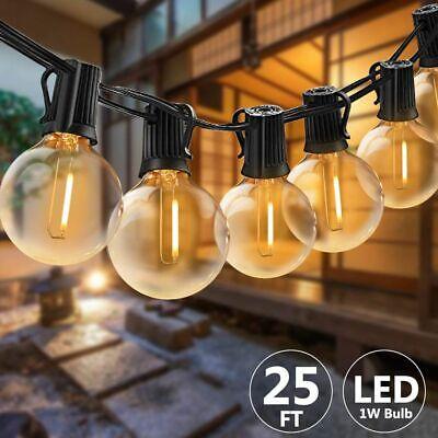 G40 Lichterkette Gluehbirne Aussen, 25Ft Globe Schnur Lichter, 25 Hängende Led