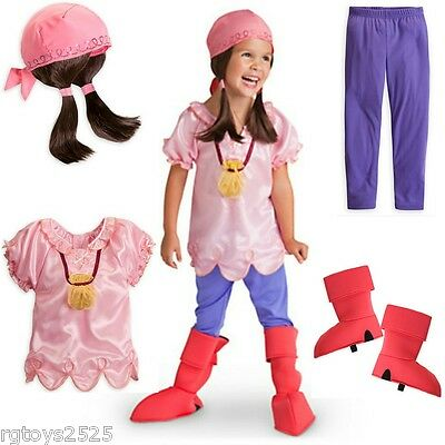 Jake The Pirate Costumes (Jake and the Neverland Pirates IZZY Disney Exclusive Costume Sz 5-6 S New)