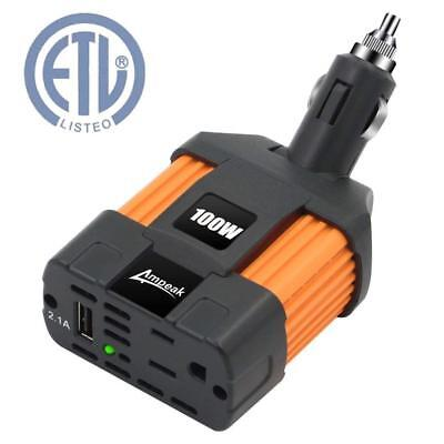 Car Inverter Converter Adapter 12V To 110V Plug Power Outlet Cigarette Lighter