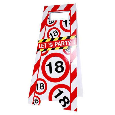 Partyschild 18. Geburtstag Flurschild Party Aufsteller Schild Tafel tweedehands  verschepen naar Netherlands