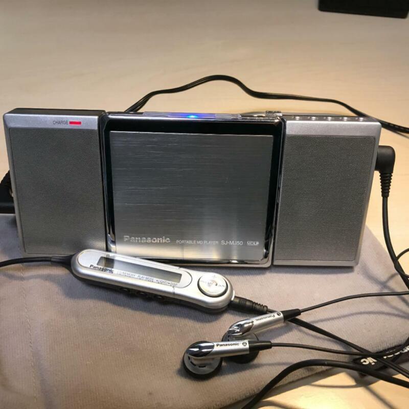 Panasonic Walkman  Player SJ-MR50 MD Mini disc Silver Tested Working Good Used