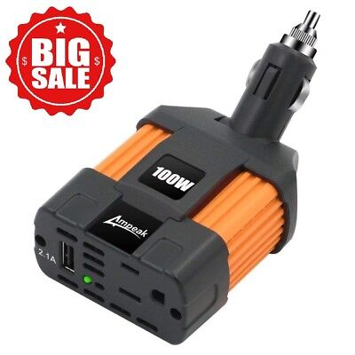 Car Inverter Converter Adapter 12V To 110V Clog Power Outlet Cigarette Lighter