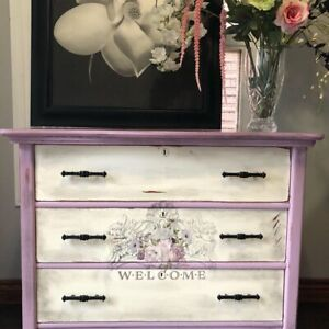 Solid wood antique painted dresser