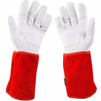 Long Leather Garden Gloves (Christmas Special FREE POSTAGE)