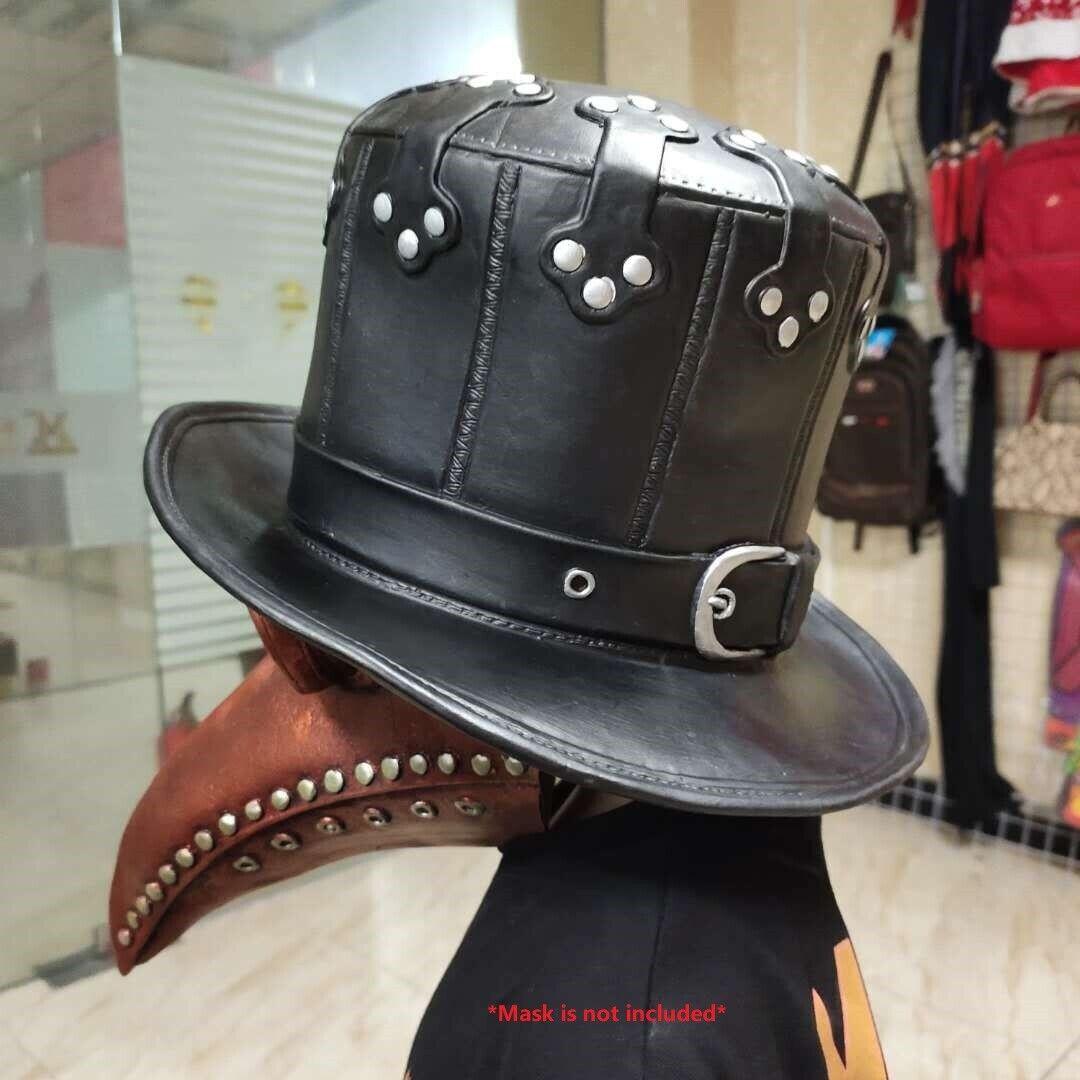 Punk Gothic Vintage Plague Doctor Bird Latex Gentleman Hat Cosplay Costume Props Accessories