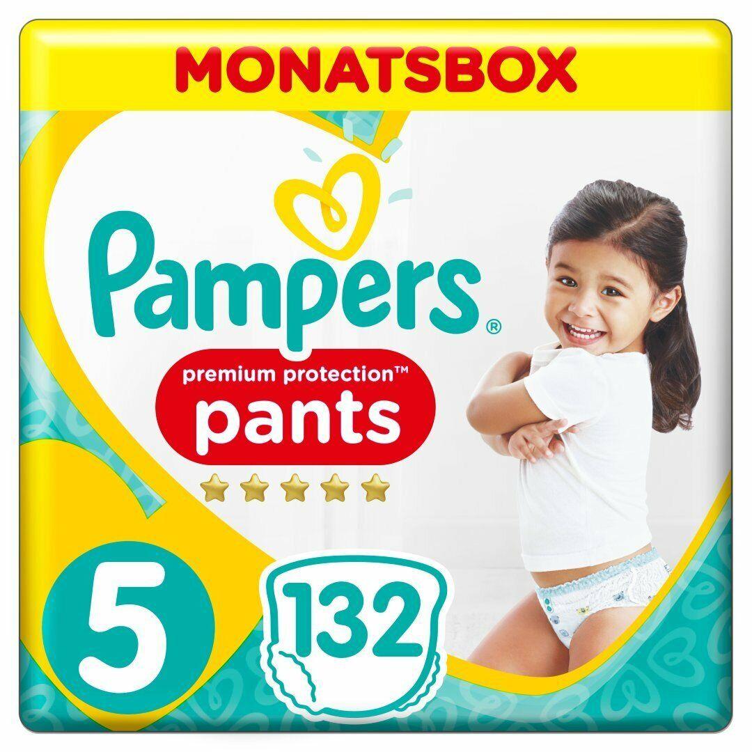 Pampers Premium Protection Pants, Gr. 5, 12-17 kg, Monatsbox, 1er Pack (1x 132 S