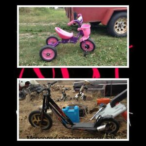 Trikes and scooters